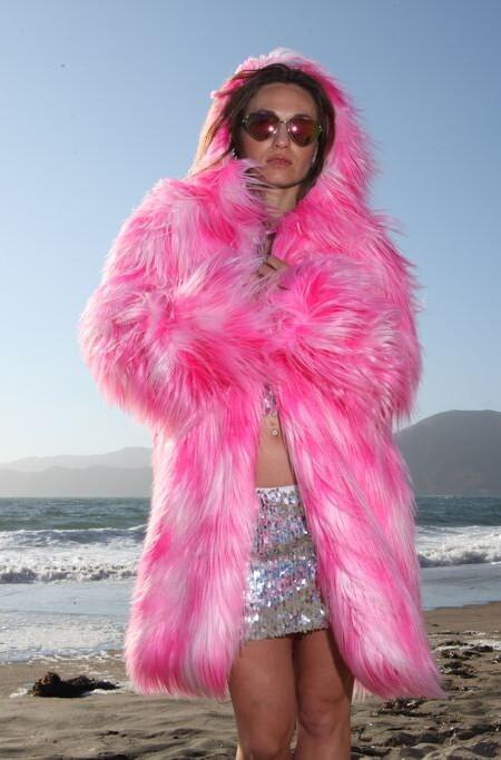 Pink Fur Coat | Bohocoats