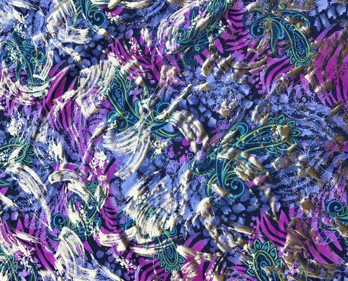 Wild Purple spandex fur coat