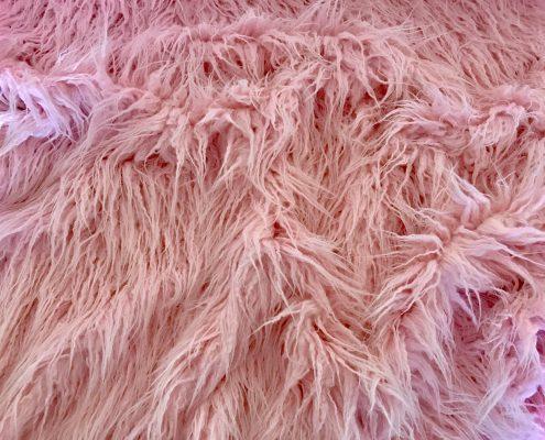 Lama Pink Faux Fur