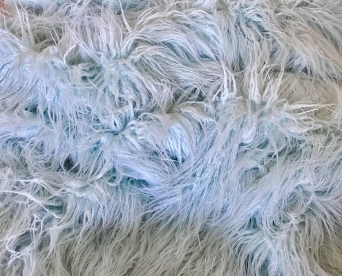 Lama Pastel Blue Faux Fur