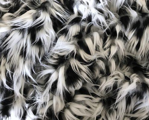 Iron Man Black White Faux Fur