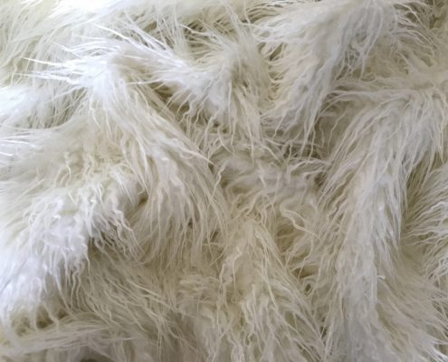 Ivory Lama Faux Fur