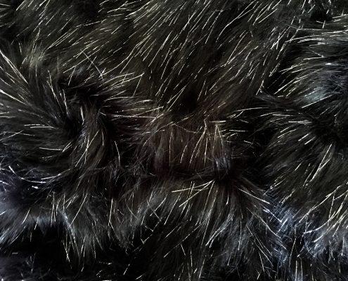 Electric Black Faux Fur