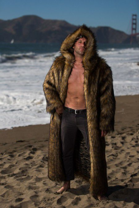 Big Bear Festival Fur Coat for men