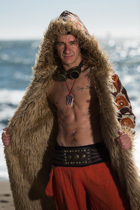 Warrior Burning Man Fur Coat