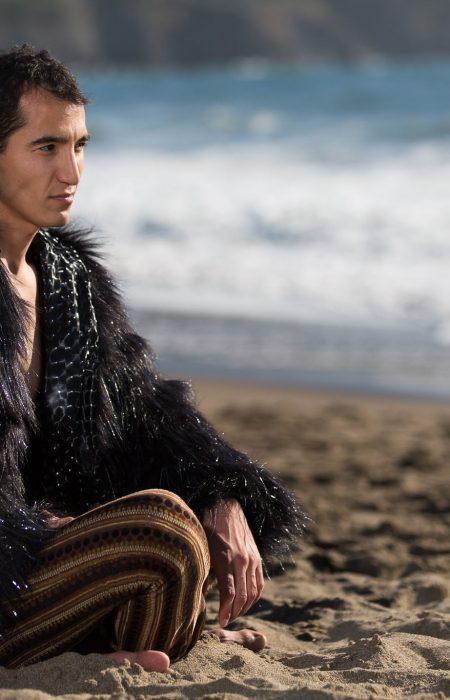 Cyberman Festival black fur coat