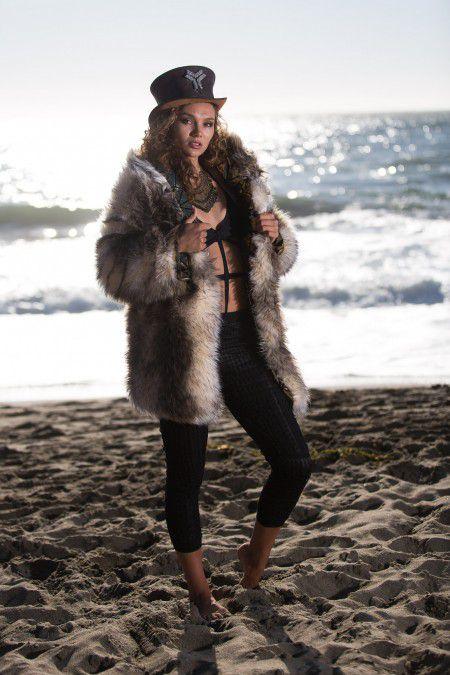 Gypsy Queen bohemian fur coat   Bohocoats