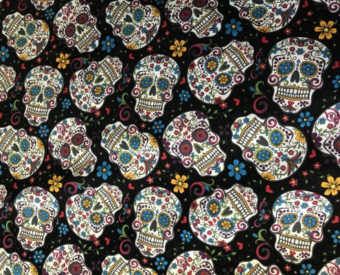 Mayan Sculls cotton lining faux fur coat | Boho Coats
