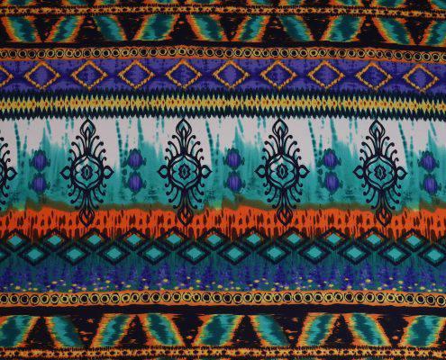 Boho Turquoise lining for Burning Man Fur Coat | Boho Coats