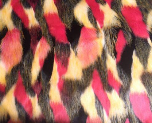Colorful festival fur coat | Bohocoats