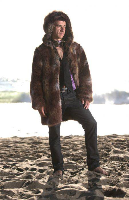 Desert Lion Festival Fur Coat   Bohocoats