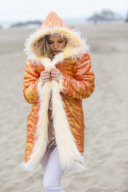 Fire Inside Festival Fur Coat | Bohocoats