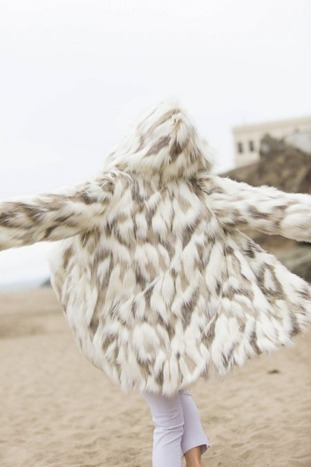 Pastel Girl Burning Man Fur Coat   Boho Coats