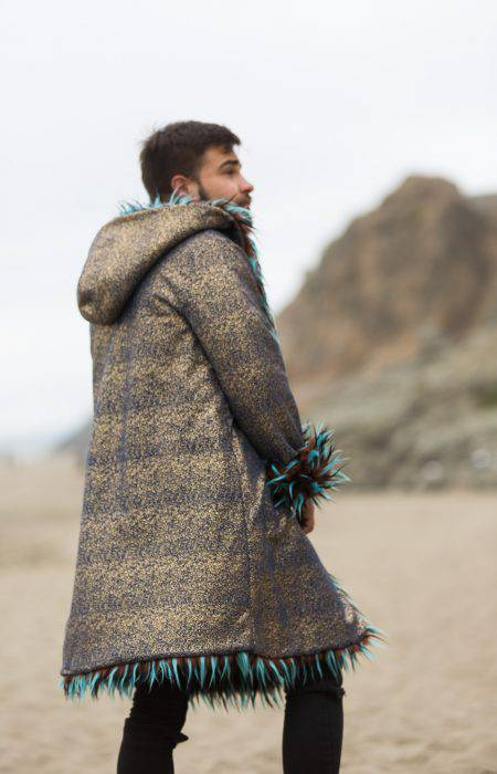 Gypsy Soul Burning Man Fur Coat | Boho Coats