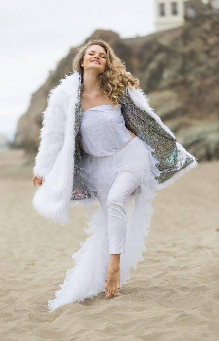 Snow Maiden White Fur Coat