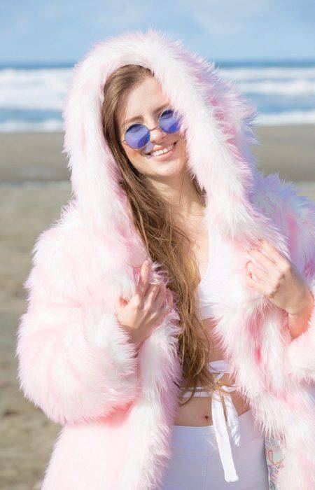 COTTON CANDY FAIRY Fur Coat | Burning Man | Playa Jacket | Mens Costume | Faux fur coat for men | Boho Coats
