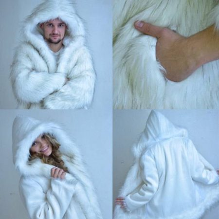 MATRIX FIBER OPTIC Fur Coat | Glow At Night Burning Man Jacket Led Clothes Playa Wear