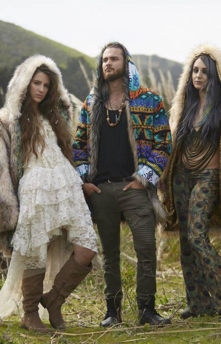 Boho Festival Fur Coat