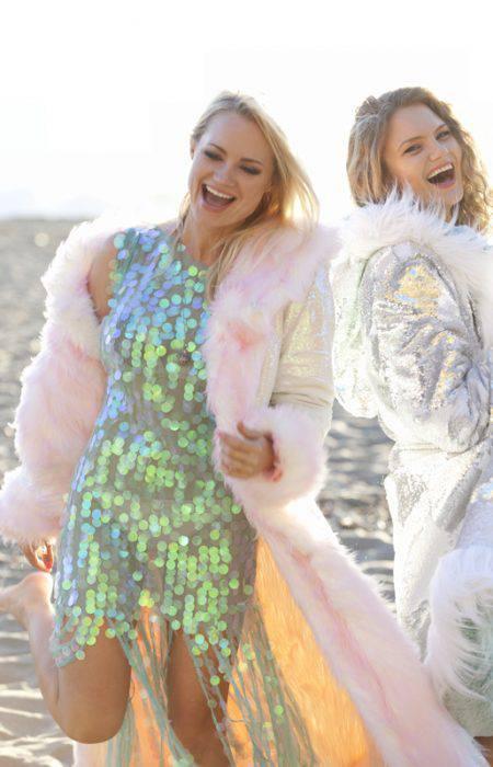 Faux fur coat Burning Man Outfit