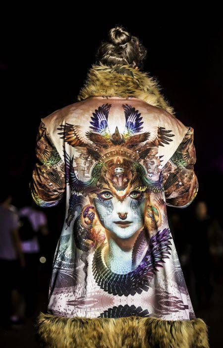 Android Jones Coat Dharma Dragon | Boho Coats