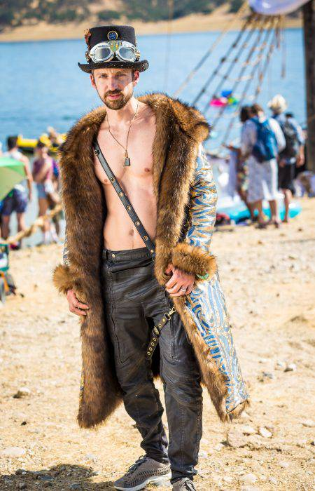 Pirate Festival Fur Coat for men