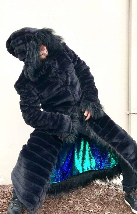 Zeus men fur coat | Burning Man