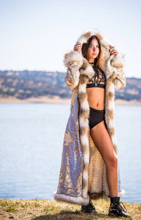 Kleopatra Golden Fur Coat | Boho coats