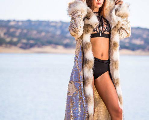 Kleopatra Golden Fur Coat | Boho coats