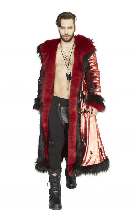 Red Dragon Festival fur jacket