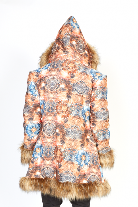 Sacred Geometry Fur Jacket