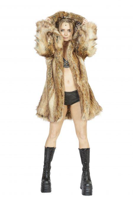 Cheetah faux fur coat