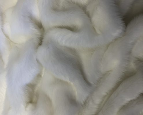 White Short faux fur boho coat