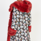 Day Of The Dead Red Faux Fur Coat
