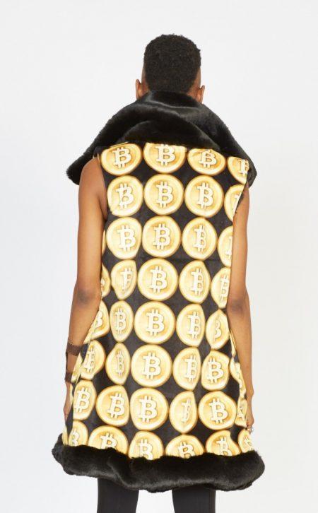 Crypto Queen faux fur vest