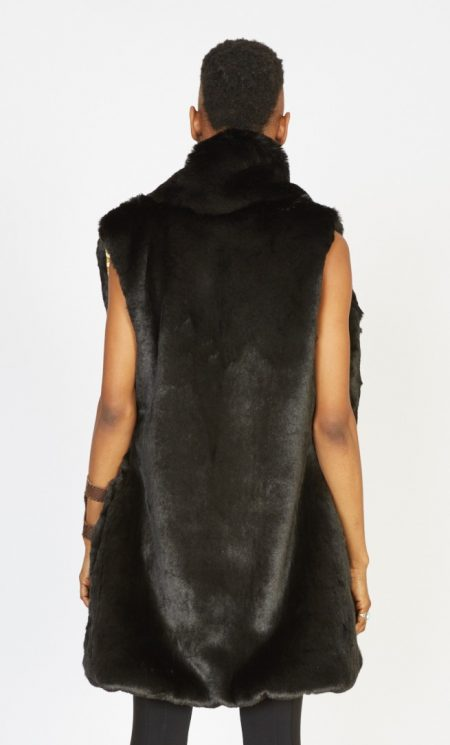 Crypto Queen faux fur vest