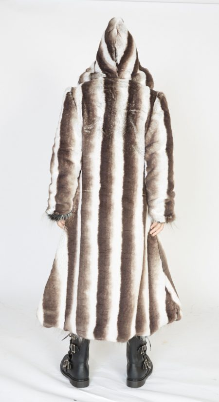 Silver Dragon Faux Fur Coat