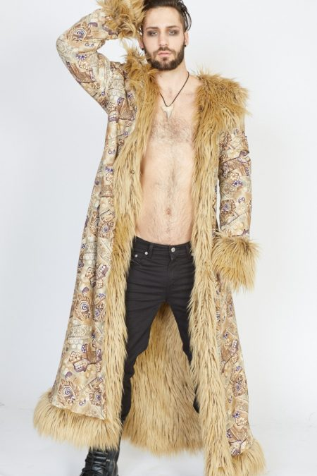 Desert Guardian faux fur coat