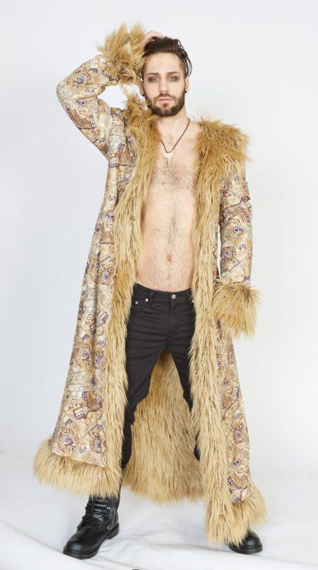 Desert Guardian faux fur coat