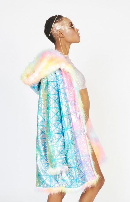 Unicorn faux fur coat