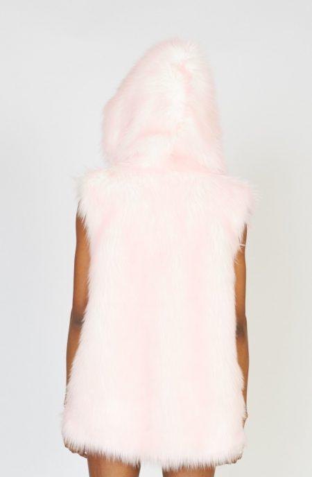 Cotton Candy faux fur vest