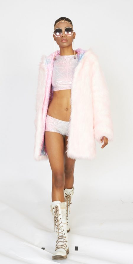 Cotton Candy faux fur coat