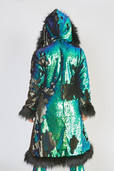 Dragon Queen faux fur coat