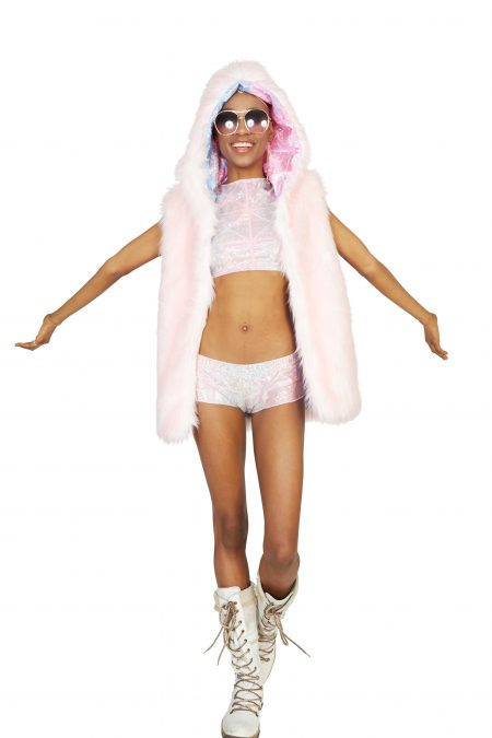 Cotton Candy faux fur vest