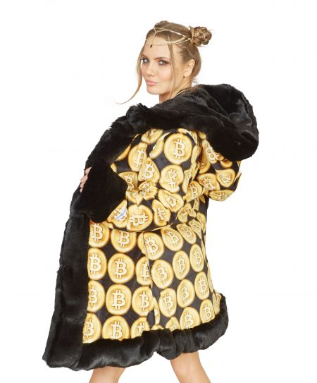 Crypto Queen faux fur coat
