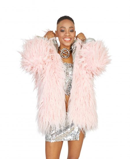 Dancing Queen faux fur coat