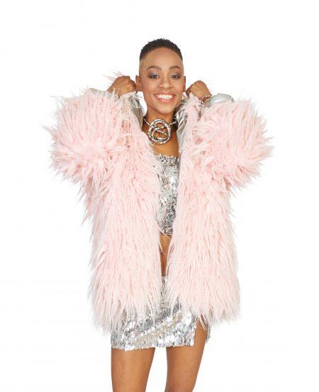 Dancing Queen faux fur coat