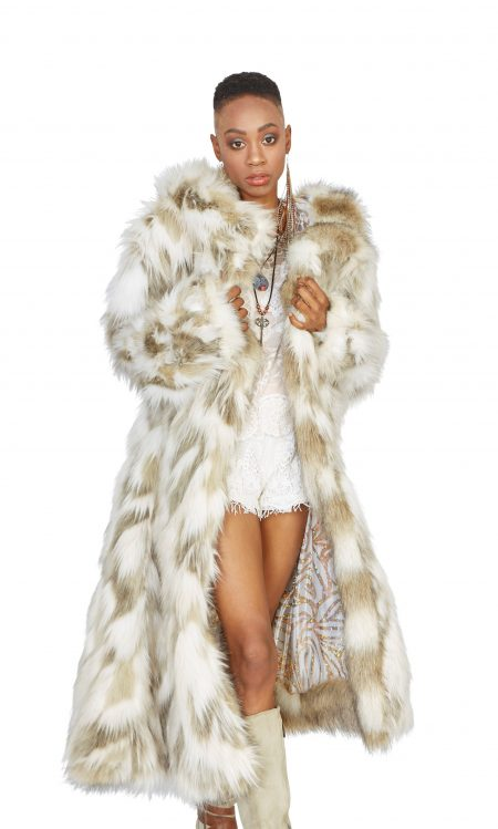 Playa Spirit faux fur coat