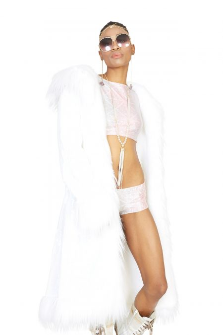 Pure Pearl faux fur coat