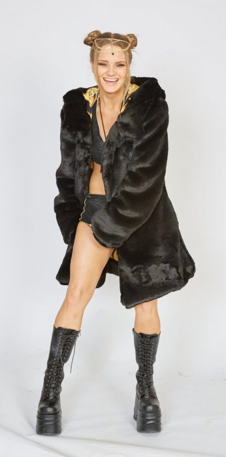 Crypto Queen faux fux coat