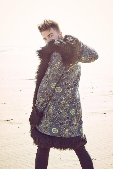 Black Wolf Men Fur Coat